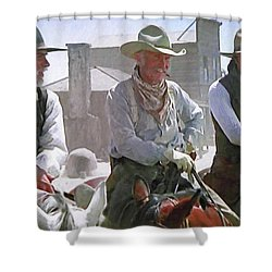 Woodrow - Gus - Jake Shower Curtain by Donna Kennedy
