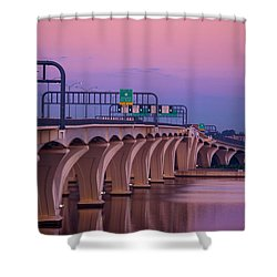 Woodrow Wilson Bridge Shower Curtain