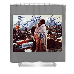 Woodstock Album Cover Signed Shower Curtain