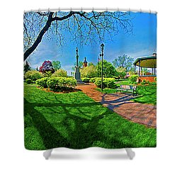 Woodstock Square Historic District 360 Spring Shower Curtain