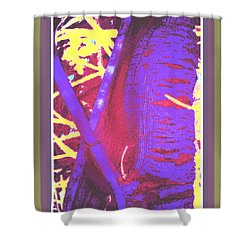 Woody Stem Abstract Shower Curtain