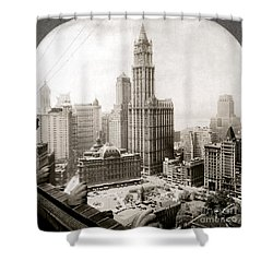 Woolworth Building, 1920s Shower Curtain by Granger