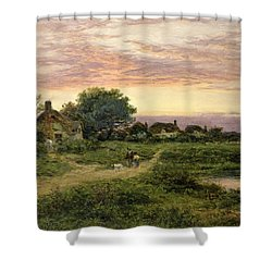 Worcestershire Cottages Shower Curtain by Benjamin William Leader
