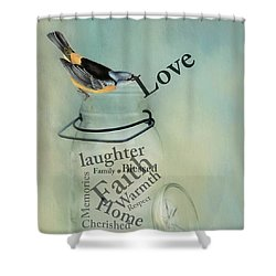 Shower Curtain featuring the photograph Love by Robin-Lee Vieira
