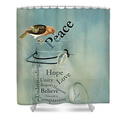 Shower Curtain featuring the photograph Peace by Robin-Lee Vieira
