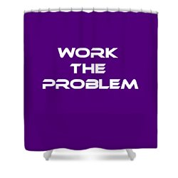 Work The Problem The Martian Tee Shower Curtain