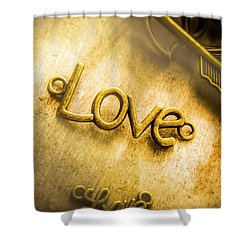 Words And Letters Of Love Shower Curtain