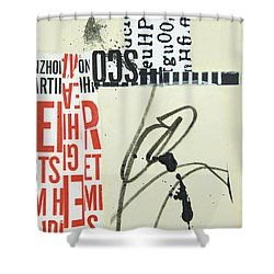 Words Shower Curtain