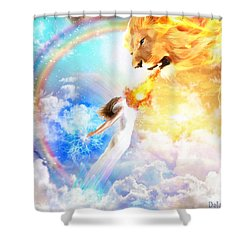 Words Like Fire Shower Curtain