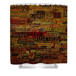Words Matter Shower Curtain