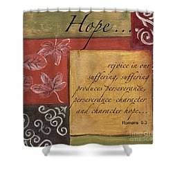 Words To Live By Hope Shower Curtain