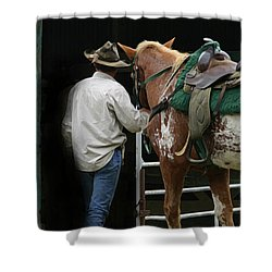 Work Day Ends Shower Curtain by Kim Henderson