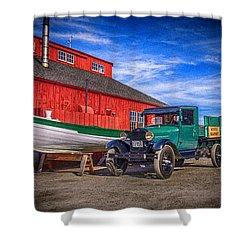 Work Truck, Mystic Seaport Museum Shower Curtain