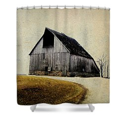 Work Wanted Shower Curtain by Julie Hamilton
