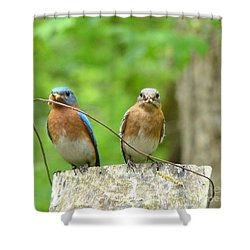 Working Couple Shower Curtain