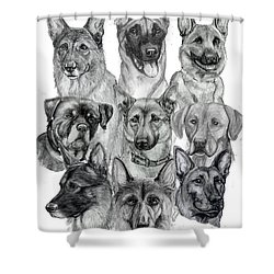 Working Dogs Of Florida Shower Curtain