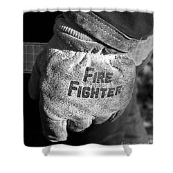 Working Gloves Shower Curtain