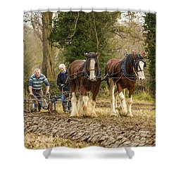 Working Horses Shower Curtain by Roy McPeak