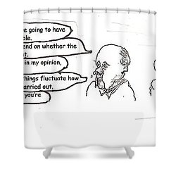Working It Out Shower Curtain