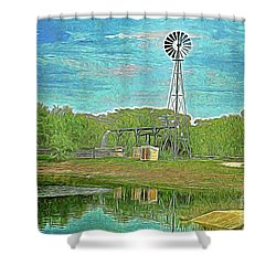 Shower Curtain featuring the photograph Working Windmill  by Ray Shrewsberry