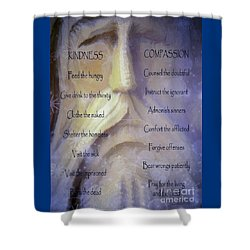 Works Of Mercy Shower Curtain