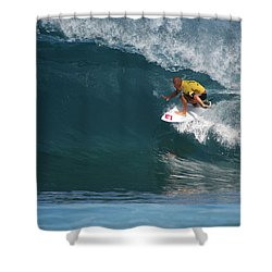 World Champion In Action Shower Curtain by Kevin Smith