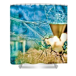 Shower Curtain featuring the photograph World In My Eyes by TC Morgan