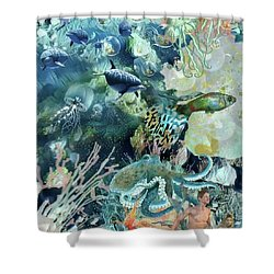 World In The Sea Shower Curtain