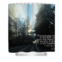 Shower Curtain featuring the photograph World Kindness Day by Peggy Hughes