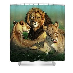 World Lion Day Shower Curtain