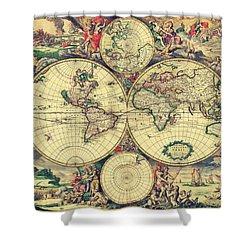 World Map 1689 Shower Curtain