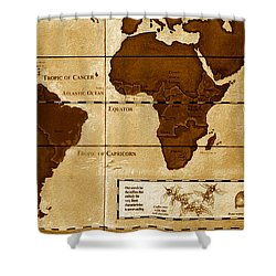 World Map Of Coffee Shower Curtain