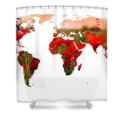 World Of Poppies Shower Curtain