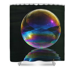 World Of Refraction Shower Curtain by Cathie Douglas