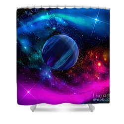 Shower Curtain featuring the photograph World Of Water by Naomi Burgess