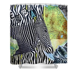 World Of Zebras Shower Curtain