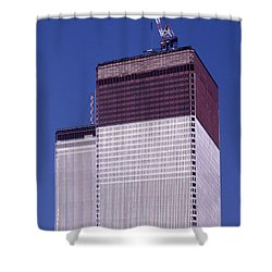 World Trade Center Under Construction Shower Curtain