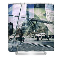 Shower Curtain featuring the photograph World Trade  by Jessica Jenney