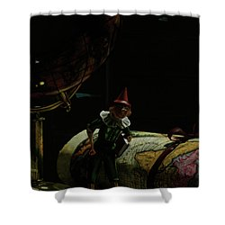 World Traveler Pinocchio Shower Curtain by Kelly Borsheim