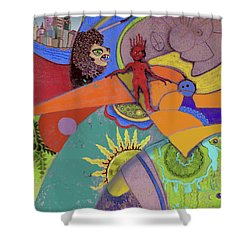 World View Shower Curtain