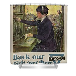 World War I Ywca Poster Shower Curtain by Clarence F Underwood