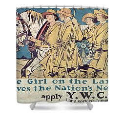 World War I Ywca Poster  Shower Curtain by Edward Penfield
