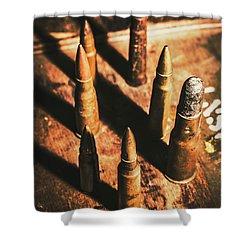 World War II Ammunition Shower Curtain