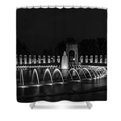 World War II Memorial Shower Curtain by Ed Clark
