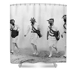 World War II: Nurses Shower Curtain by Granger