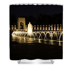 World War Memorial Shower Curtain by Kim Hojnacki