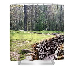 Shower Curtain featuring the photograph World War One Trenches by Travel Pics