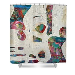 Worldly Women Shower Curtain by Gail Butters Cohen