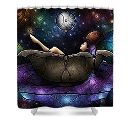 Worlds Away Shower Curtain