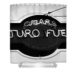Worlds Finest Cigar Shower Curtain by David Lee Thompson